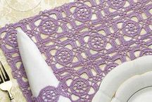 Crochet napking rings & placemat