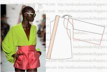 Clothing Molds / Moldes / Costura - roupas