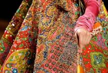 WORK IT / From many different regions in India to Pakistan, ranging from elaborate floral designs of the Mughal court to vibrant folk patterns embellished with cowrie shells and mirrors. Embroideries be working it...