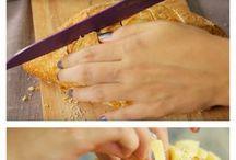 bolos, tortas, pães, sopas e alimentos em geral