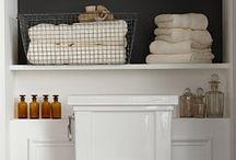 Badrum / Smarta lösningar för förvaring i badrum.
