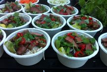 Ravintolapäivä kuvia / Bbq-pork ramen and teriyaki-chili-beef ramen at Seljatie 1.