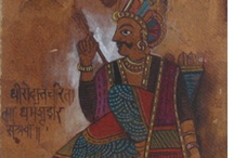 Jayashree Patankar: Chitrakathi, Storytelling through a Art / Chithrakathi is the Folk Art of Pinguli, a small village in Maharashtra, dating back to the 17th century. Along with leather shadow puppets,  pictures or 'chithra' were used for narrating stories.  Paintings were made in sequential order using entirely natural materials . The stories would be sung with instrumental accompaniments along with the pictures.   Jayashree Patankar has adopted this form of folk art with a contemporary touch.