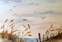 sjø og landskap