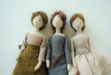 Dolls / summer project for foundation art