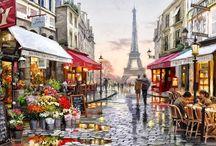 Paris oleo s/ tela