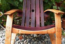 Wine barrel furniture / by L'ancienne Ferme de Lascorades