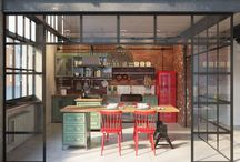 Industrial kitchen/living room
