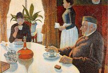 PAUL SIGNAC / PAUL VICTOR JULES SIGNAC (11 November 1863 – 15 August 1935) was a French Neo-Impressionist painter who, working with Georges Seurat, helped develop the Pointillist style.