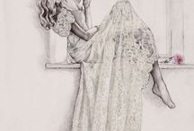 rysunek kobieta