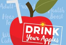 #DrinkYourApples / This March & April we'll explore ways to enjoy apples in beverages with tips, recipes and more.