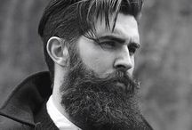 Beards, moustaches or mens style