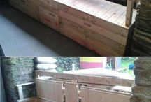 Pallets, recycle and more.