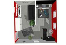 Me bedroom+living room