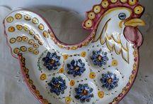 Galletto portauova in ceramica dipinto a mano., by ilciliegio, 18,00 € su misshobby.com
