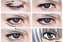 tutorial make up cosplay (eyes)