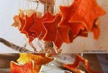 Гирлянды из мандарина и апельсина