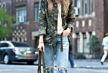 Camouflage look