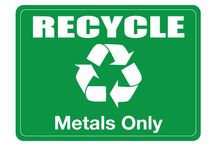 RECYCLE SIGNS / Use this Printable Recycle Metals Sign for recycling sign boards place where it needs. Recycling is very much needed for environmental safety.