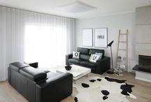 Czarno-białe aranżacje wnętrz/ Black & white interiors
