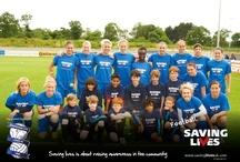 Birmingham City Ladies FC supporting Football Saving Lives  / Football Saving Lives www.savinglivesuk.com