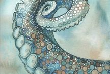 Too many tentacles / Tell me, O Octopus, I begs .. Is those things arms, or is they legs? - Ogden Nash / by Gail Ragsdale