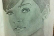 Rihanna Drawings