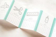 Calendrier / Papier / washi tap