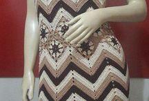 vestida de crochet marron