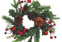 Artificial Christmas Greens / PVC Florist Quality Faux Christmas Wreaths, Branches and Twigs.