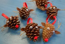 pinecones at xmas