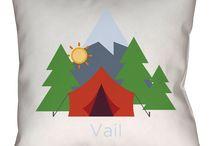 Vail, Colorado Throw Pillows