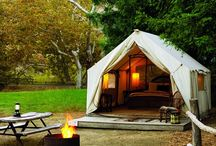 "Camping: Glamping / Glamorous relaxing girl camping...because there is no such thing as ""roughing"" it. (Spirit) / by LA"