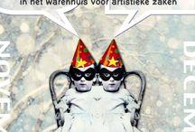 Atelier Gist - WinterWarenhuis / Atelier Gist opent haar deuren voor een keur aan Amersfoortse kunstenaars: 'kleine' kunstwerkjes voor de feestdagen tegen een feestelijke prijs! Kom Winterwinkelen in het WinterWarenHuis!