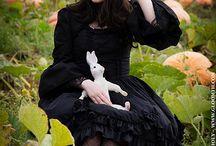 Gloomth Pumpkin Patch / Models: CheshireCat, Syringe, LadyRakasha Photographer: Russel Hall Stylist/MUA: Taeden www.gloomth.com