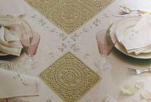 Dantel masa,sehpa,yatak örtüleri