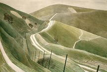 Eric Ravilious / Born in 1903, Ravilious was an English painter, illustrator and printmaker. Ravilious attended the Royal College of Art, where he studied under Paul Nash. He began his working life as a muralist, first coming to notice as an artist in 1924. He went on to become one of the best-known artists of the 1930s. He was also the leading light of wood-engraving in England at that time, and undertook ceramic designs for Wedgwood.
