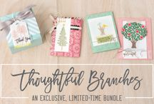 Stampin' Up!--Thoughtful Branches Bundle / All creations made using the Thoughtful Branches stamp set and Beautiful Branches Thinlits dies