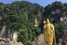 Kuala Lumpur (Malásia) / Batu Caves - Templo Hindu na Malásia.
