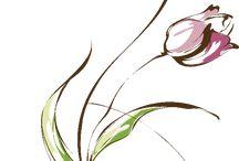 tulipanes acuarela