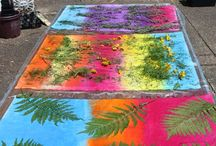 Sun Printing / sun printing, fabric sun printing / by Lynda Heines