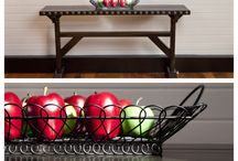 Versatile Pieces / Can be used in a foyer, dining room, kitchen  as a sofa table or in a bathroom.