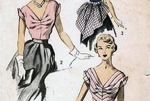 Винтажные швейные выкройки