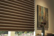 Solera™ Soft Shades / Unique soft shades  Made of woven and non-woven fabrics, Solera™ Soft Shades create a fluid, sculpted look. The only soft shades with cellular construction, they also lend both light-filtering and room-darkening options.