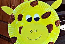 práce pro děti z papírových talířů