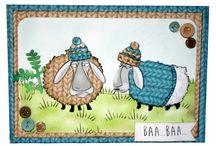 Sheep - baa humbug / Hobbyarts sheep rubber stamp