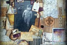 Kit de scrap Beautiful Dreamer / Feuilles Bo Bunny de la collection Beautiful Dreamer Pochoirs Crea2moa