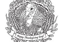 Thanksgiving day coloring pages / Discover our Thanksgiving day coloring pages for grown ups and adults, from our website www.coloring-pages-adults.com