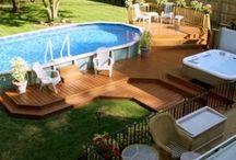 Pools, Pits, and Pergolas!!! / Pools, porches, decks, fire pits, pergolas, and gazebos / by Dawn Watson