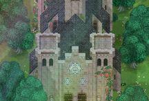pixel arts image castle